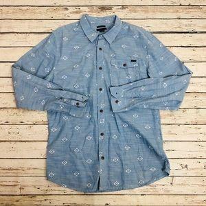 O'neill Men's shirt Button Down Aztec Pattern